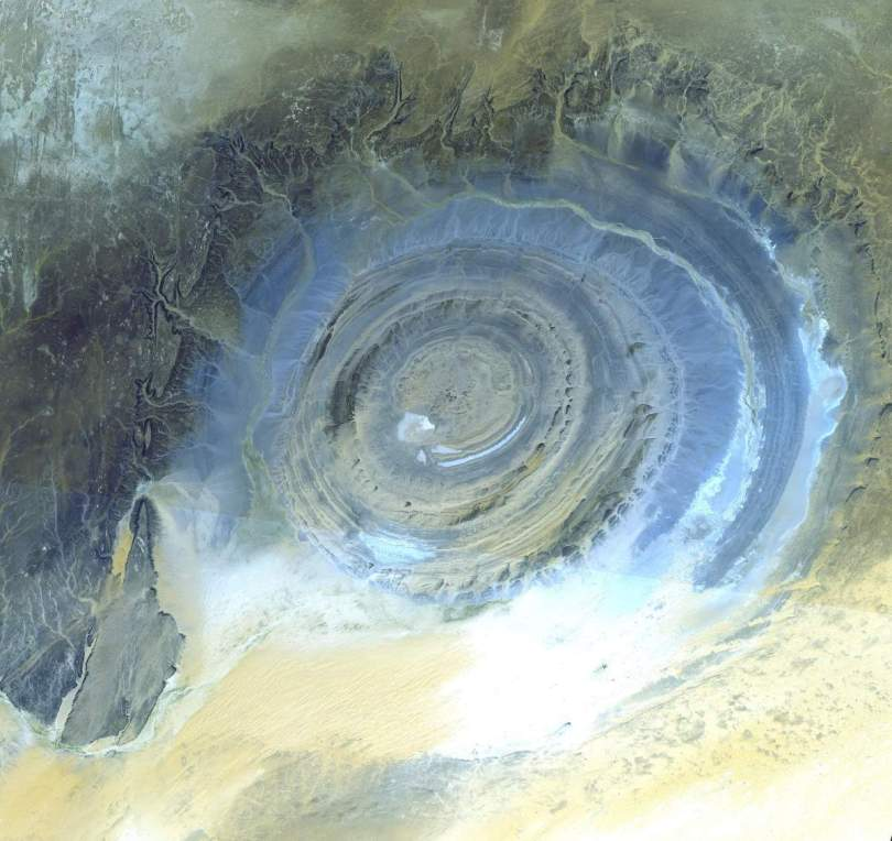 The Richat Structure from the sattelite