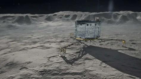 Philae on Churyumov-Gerasimenko