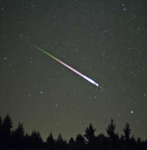 A Leonid meteor