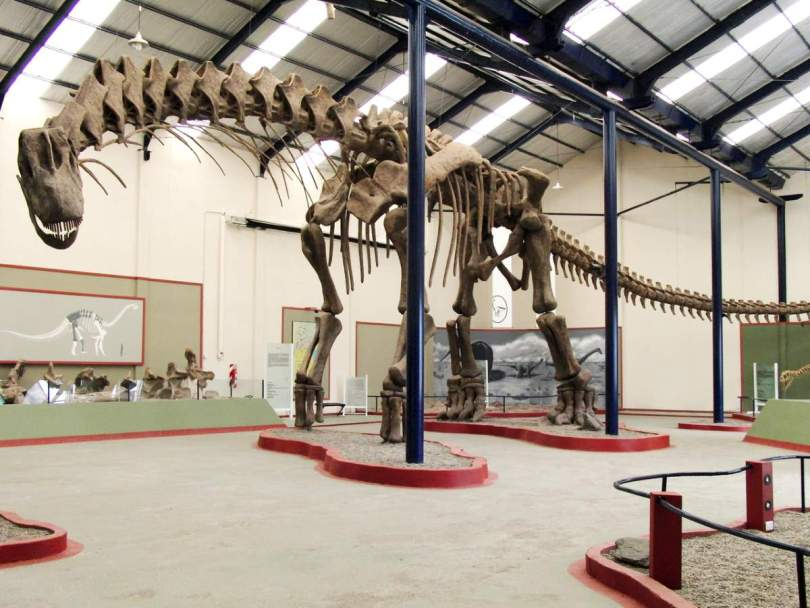 Argentinosaurus huinculensis reconstruction at Museo Municipal Carmen Funes, Plaza Huincul, Neuquén, Argentina.
