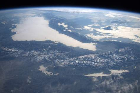 The Alps in Winter from the International Space Station (December 27, 2015)
