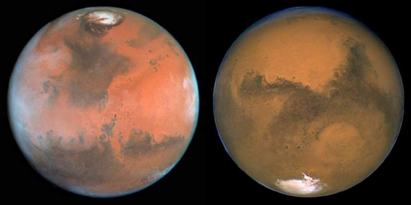 The poles of Mars