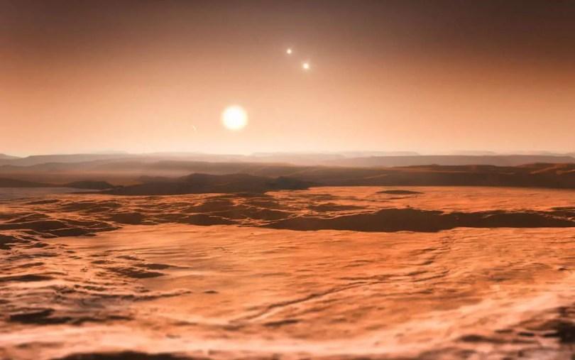 Planet with three stars