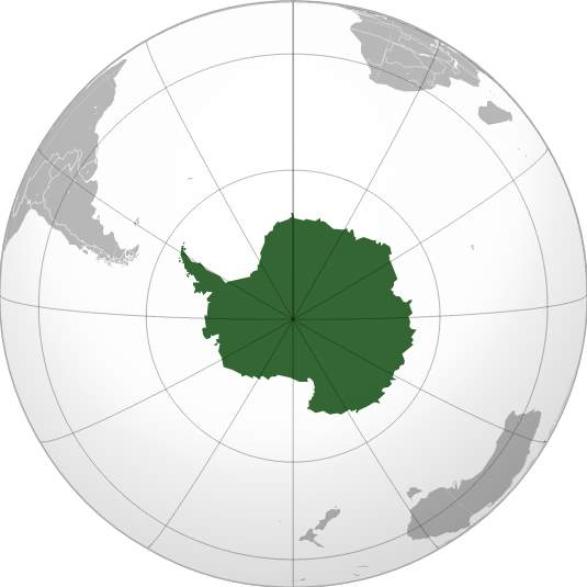 Antarctica (orthographic projection)