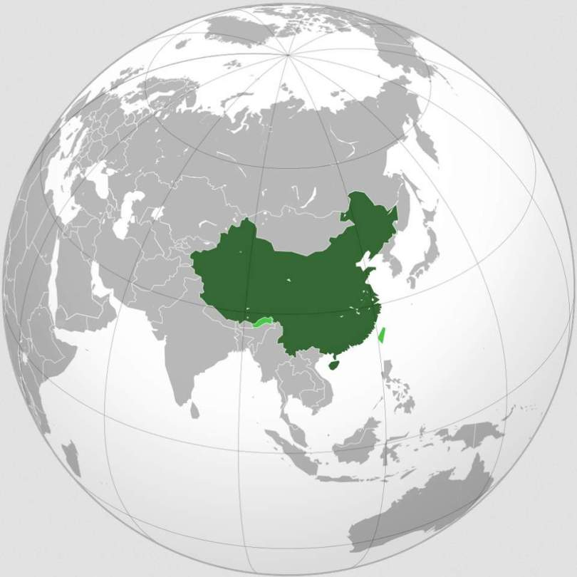 China, orthographic projection