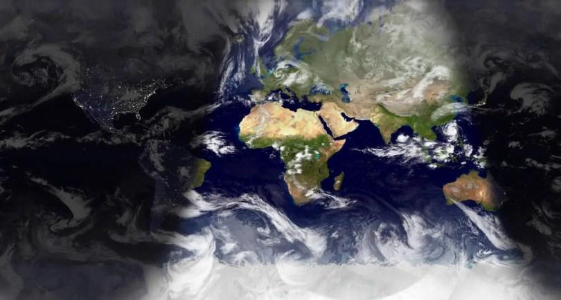 Sunlight Map of World