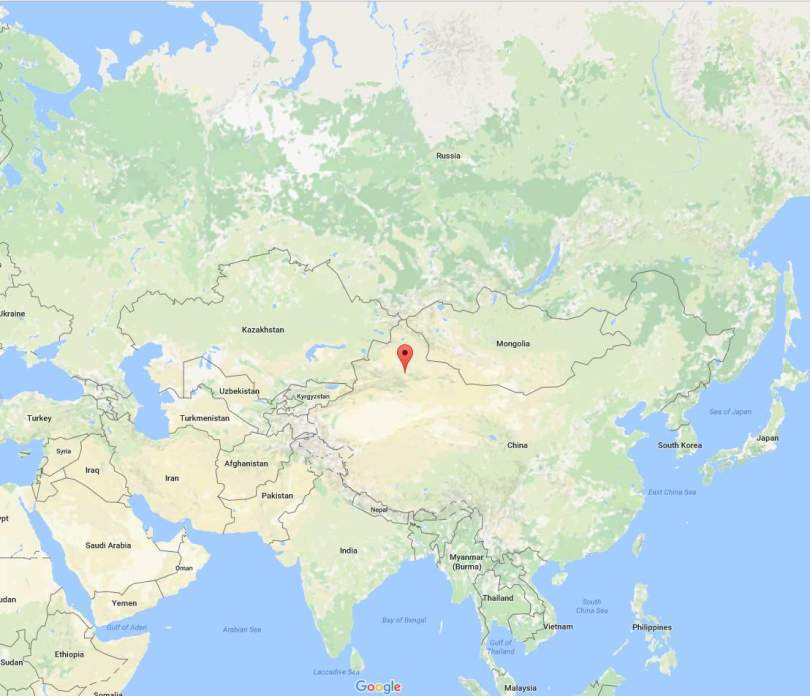 Ürümqi location on map