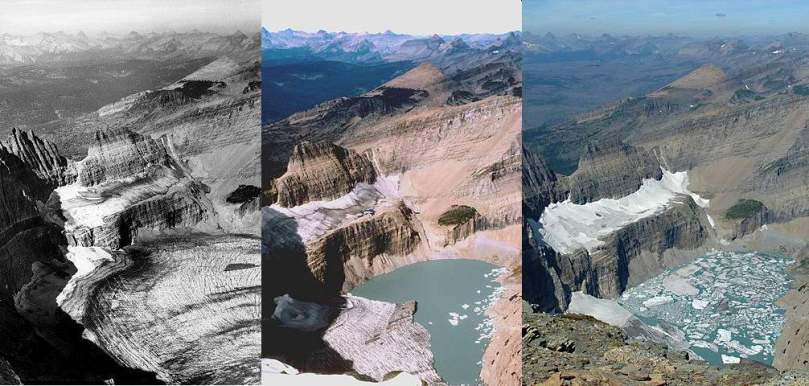 Retreat of the Grinnell Glacier