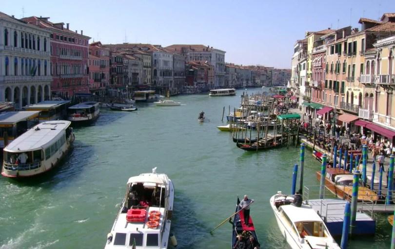 Venice - The Grand Canal from the Rialto Bridge (March 2009)