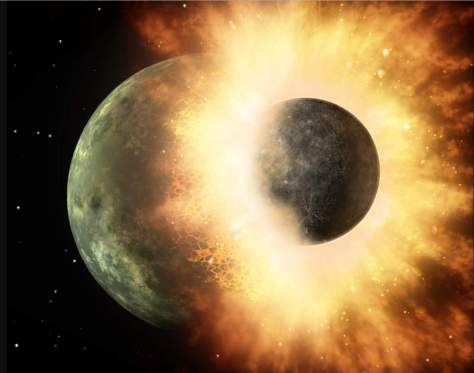 How Earth could die - collision between two planetary bodies