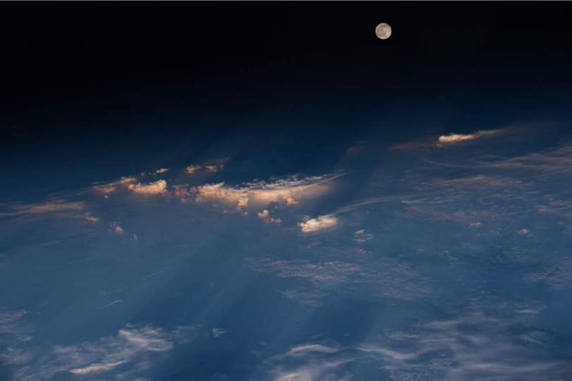 International Space Station View of the Full Moon