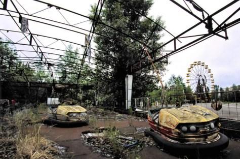 Pripyat amusement park after Chernobyl disaster