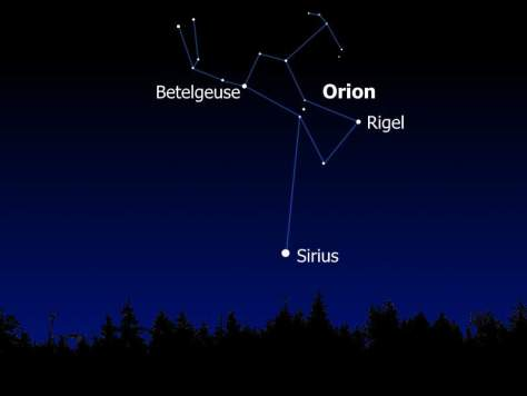 Finding Sirius in the night sky (photo credit)