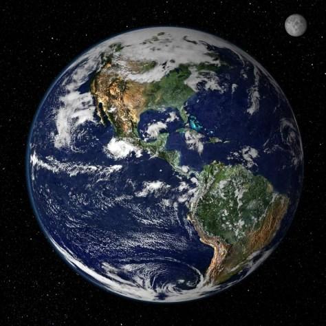 Earth and Moon image (NASA)