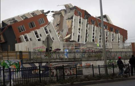 Most Powerful Earthquakes No. 6. A destroyed building after 2010 Chile earthquake