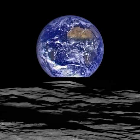 Earthrise, from LRO (2015)