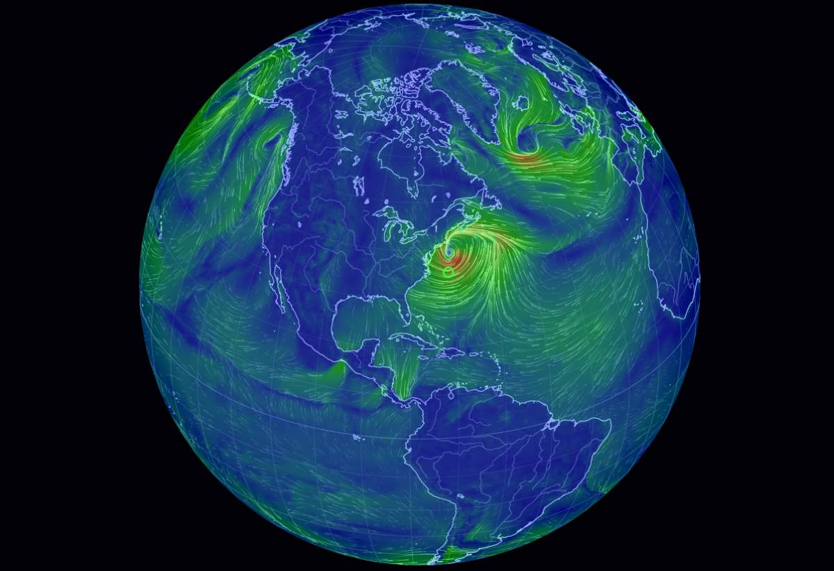 Earth Wind Map See Current Wind Speeds All Over The Earth