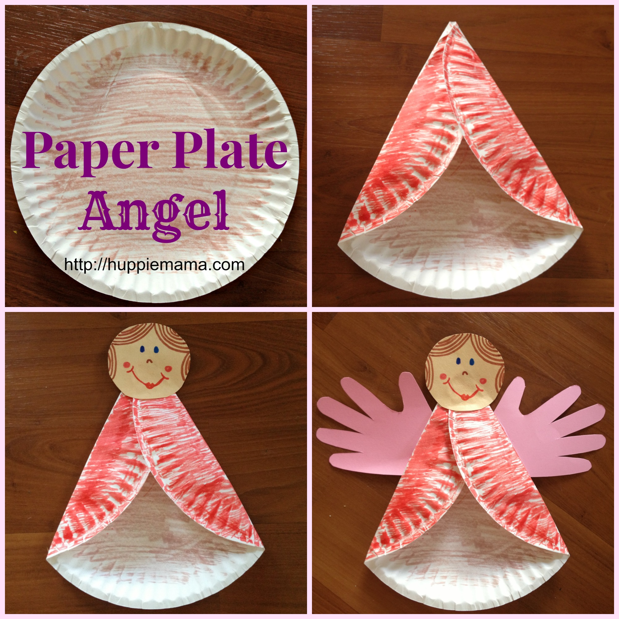Christmas Kids Craft Paper Plate Angel & Paper Plate Owl - Huppie Mama