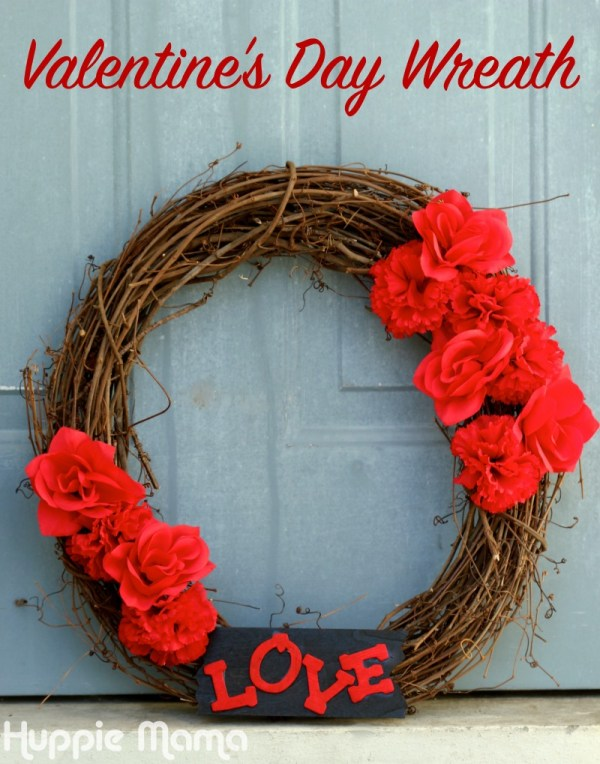 Valentine's Day Wreath - Our Potluck Family