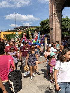 It gets crowded in Centro on the weekends. San Miguel de Allende