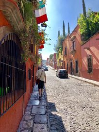 A street in low season in San Miguel de Allende