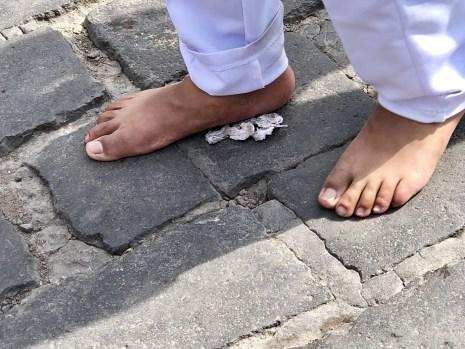 Long walk, no shoes!!