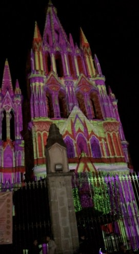 Video mapping on the Parroquia