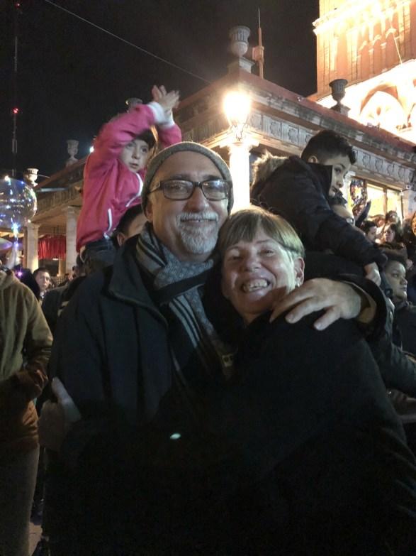 Glenn and I celebrate