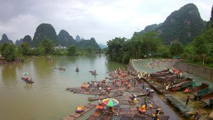 Yulong River Yangshuo China Bamboo Rafts