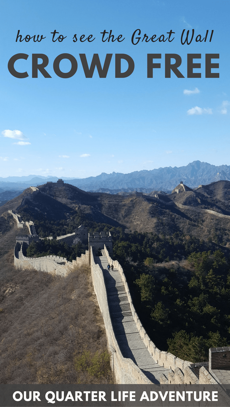 How to see the Great Wall Crowd Free Beijing China Our Quarter Life Adventure