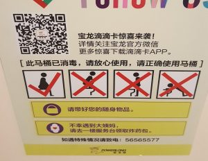 How to Use a Toilet China Sign