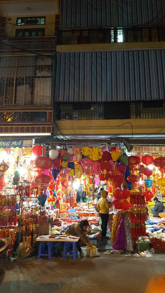Hanoi Vietnam Lunar New Year Decorations Shop