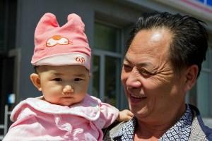 Chinese Baby Beijing China by Chris Beckett