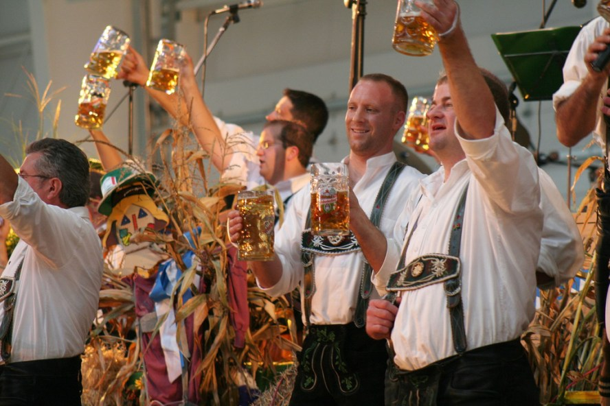 Oktoberfest Beer Steins Cheers Munich Germany