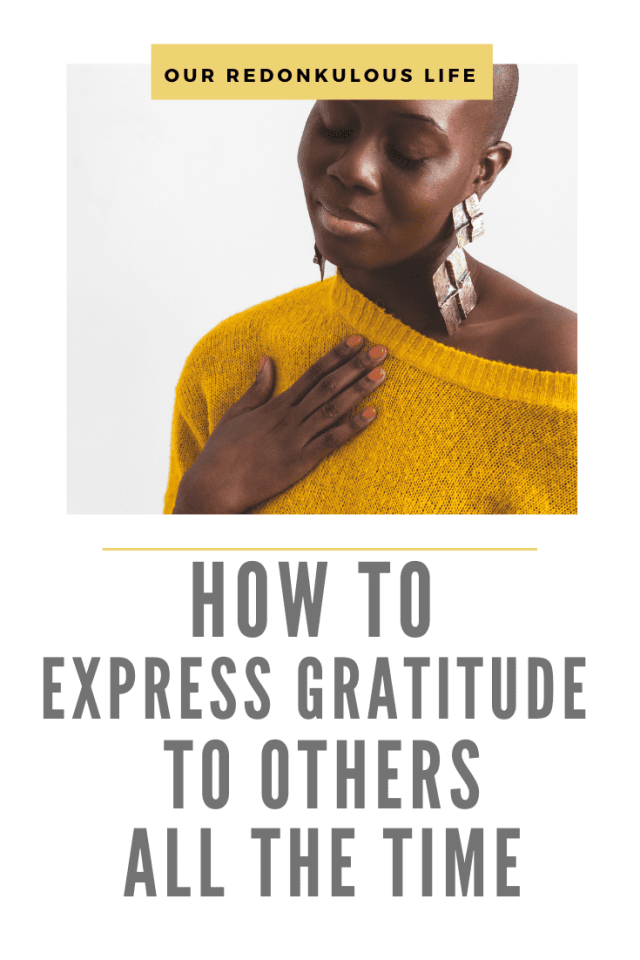 express gratitude to others