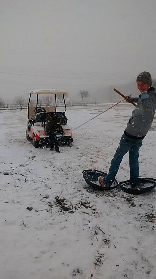 Redneck Skiing