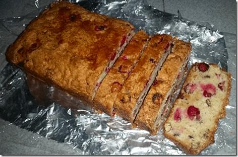 Jan's Cranberry Orange Nut Bread Sliced