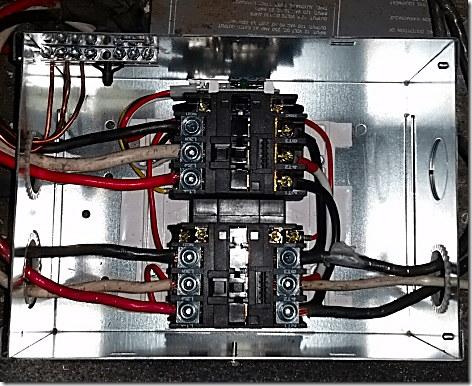 Transfer Switch Installed