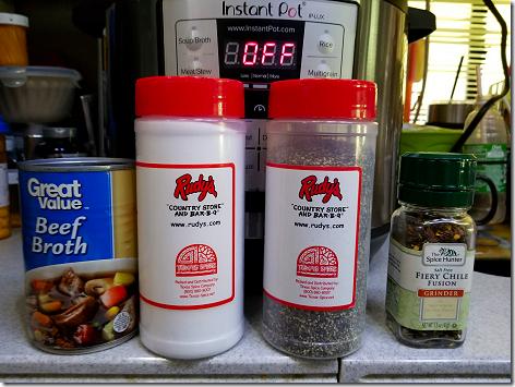 Instant Pot Pot Roast Spices