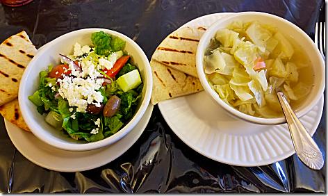 Ellie's Greek Salad and Cabbage Soup