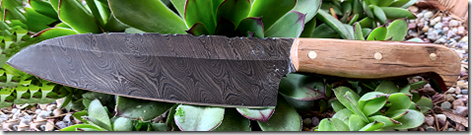Small Chef Knife with Mammoth Tusk