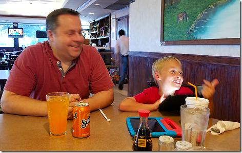 Lowell and Landon at Kind Food