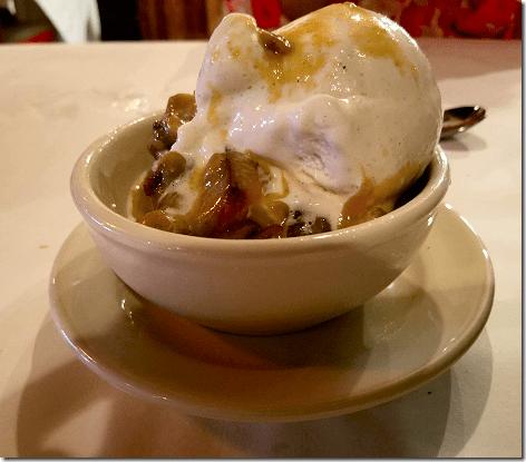 Weidmann's Praline Bread Pudding ala Mode