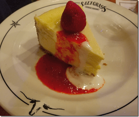 Saltgrass Kemah Two Fork Cheesecake