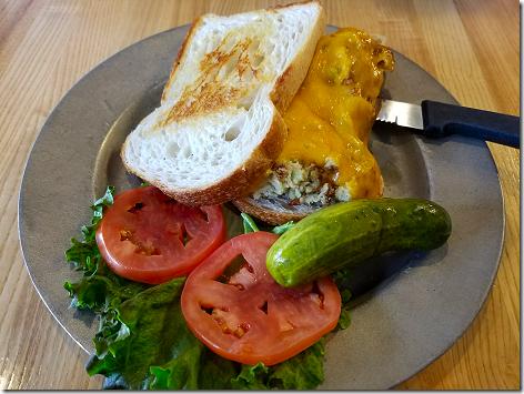 Katz' Open Faced Tuna Sandwich