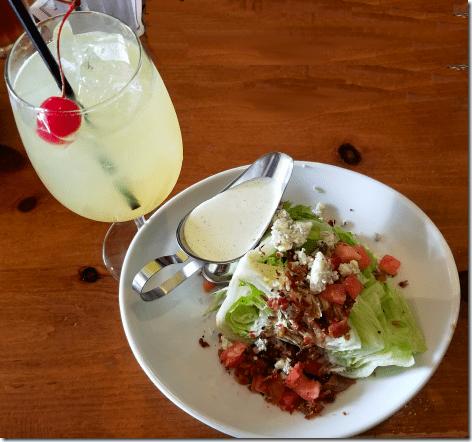 Saltgrass Valentine's Wedge Salad and Drink