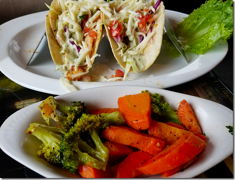 Crazy Alan's Grilled Shrimp Tacos and Grilled Veggies
