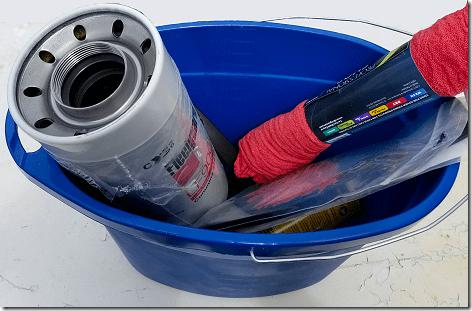 Rig Oil Filter Bucket