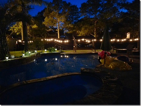 Brandi's Backyard at Night 1