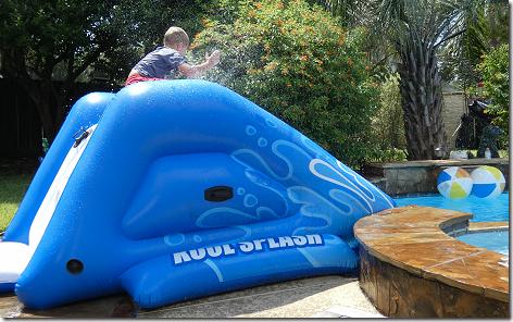Landon On Water Slide 0